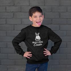 French Bulldog Cousin (2) Sweatshirt Unisex Barn