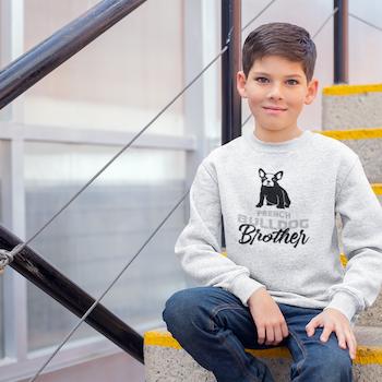 French Bulldog Brother Sweatshirt Unisex Barn