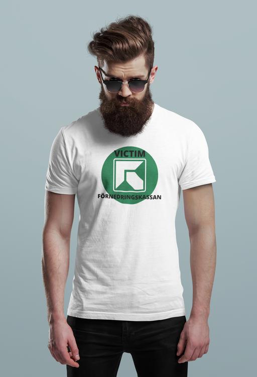 Förnedringskassan T-shirt, Försäkringskassan. Tröjan för dig som blivit illa & orättvisst behandlad av den svenska försäkringskassan