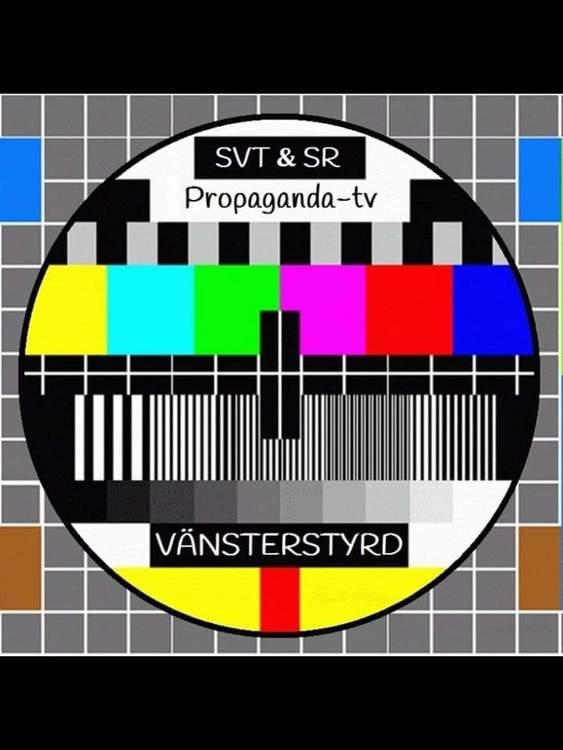Sveriges Television Propaganda TV Tshirt Motiv