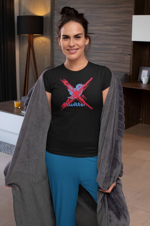 Twitter T-Shirt Dam Svart