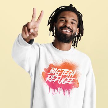 Big Tech Refugee Sweatshirt Unisex