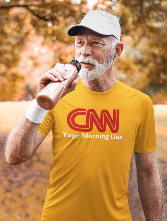 CNN The Fake News Channel. Tshirt med tryck CNN Your morning lies. CNN News. Tshirt Herr