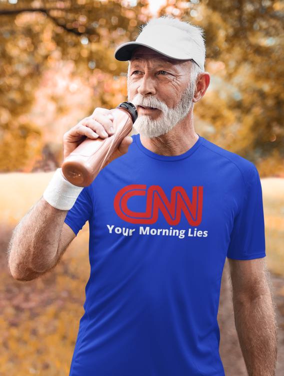 TShirt för män med tryck. CNN Your Morning Lies