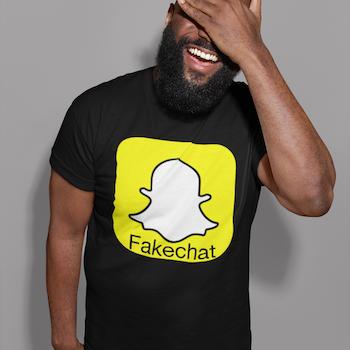 Fakechat T-Shirt Herr