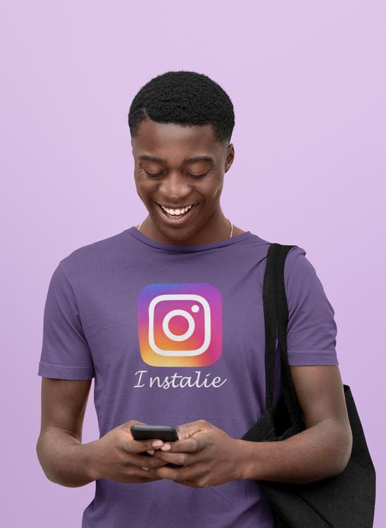 Kul & Rolig Instagram Tshirt med texten Instalie