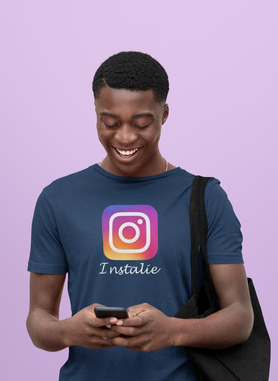 Instagram eller Instalie. Det är den stora frågan. Herr Tshirt Instalie