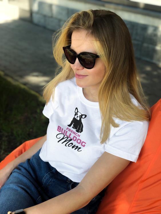 Fransk Bulldog T-Shirt, French Bulldog Tshirt Women