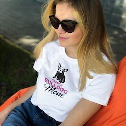 Fransk Bulldog Mom T-shirt