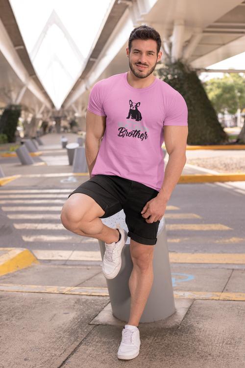 Trendiga Fransk Bulldog T-Shirts. T-Shirt med stort färgutbud. Denna i härliga ljusrosa. Fransk Bulldog T-Shirt när den är som bäst.