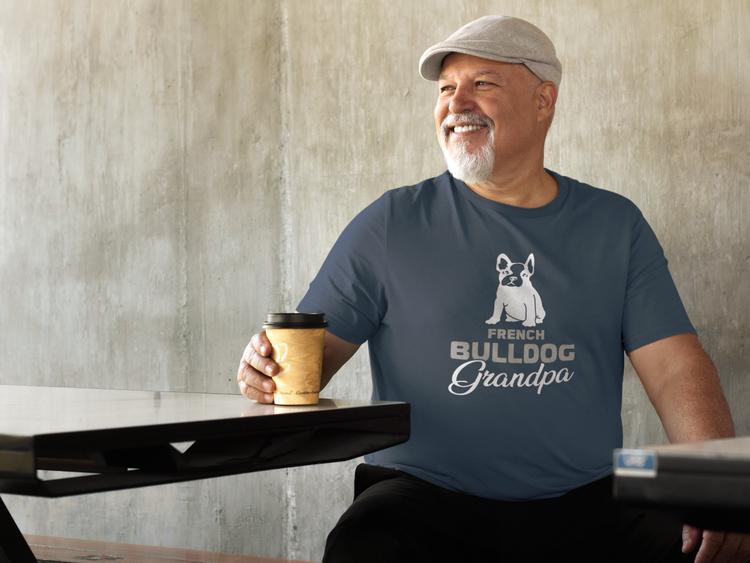 Fransk Bulldog Tshirt, French Bulldog Tshirt Men, French Bulldog Granpa Tshirt