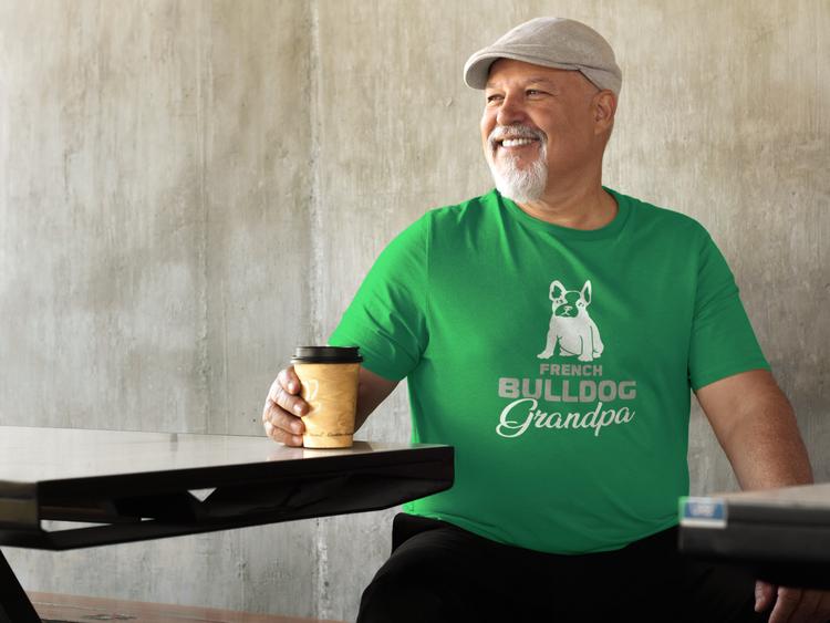Fransk Bulldog Tshirt, French Bulldog Tshirt Men. En tröja från The French Bulldog Family Collection