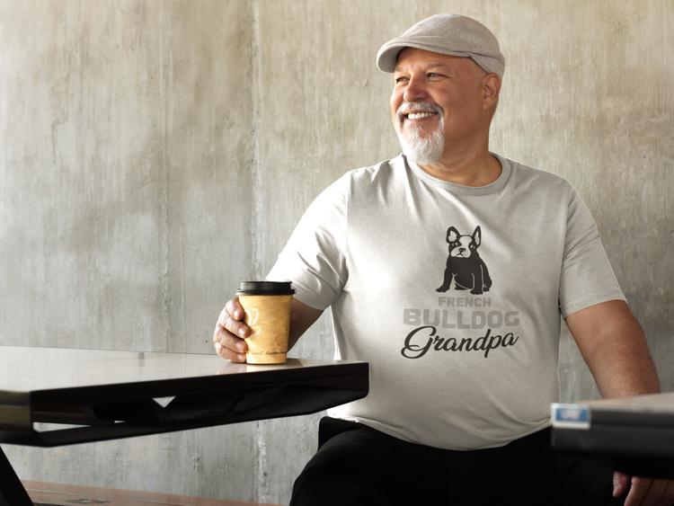 Fransk Bulldog T-Shirt, Fransk Bulldog Tshirt. Fransk Bulldog Morfar & Fransk Bulldog Farfar T-Shirt