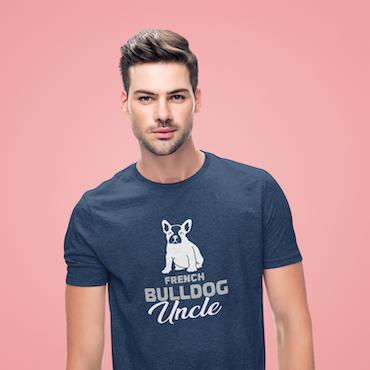 Fransk Bulldog Uncle T-Shirt Herr