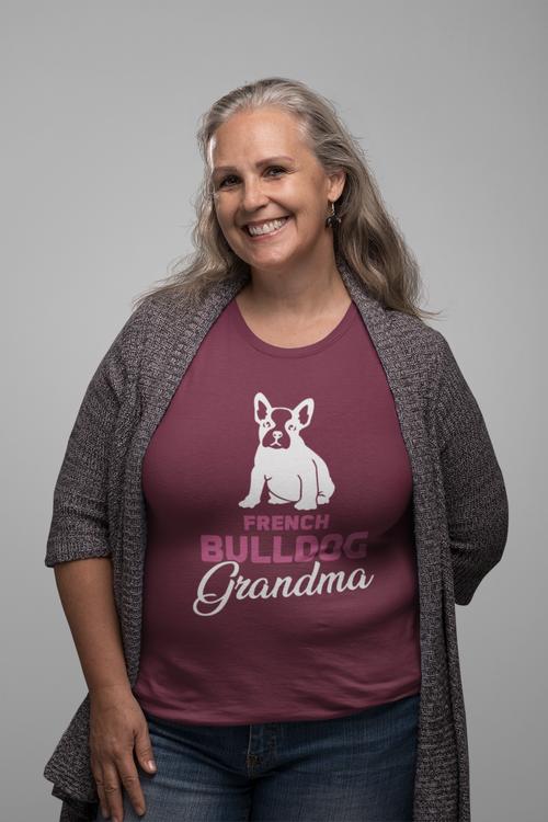 Fransk Bulldog Grandma T-shirt Dam