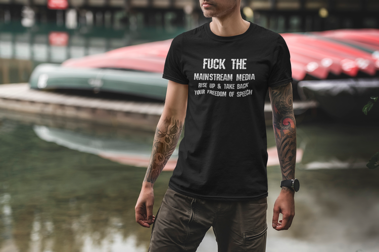 T-Shirt anti mainstream media. Stand up and take back your freedom of speech. T-Shirt Herr