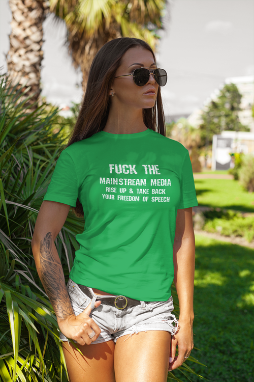 Fuck The meainstream media women tshirt