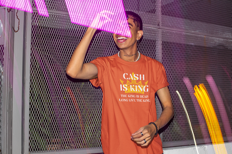 Cash Is King T-Shirt Herr