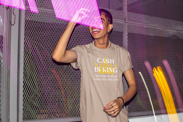Cash Is King T-Shirt Herr. Tshirt Cash Is King