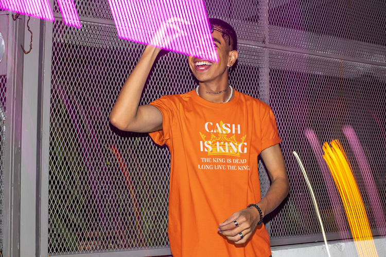 Cash Is King T-Shirt Herr