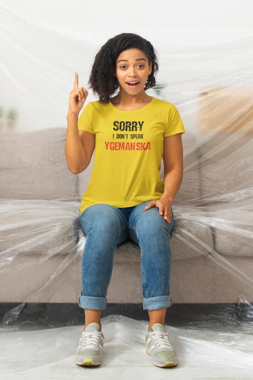 Ygeman T-Shirt. Socialdemokraterna Sverige. Sorry I Don't Speak Ygemanska