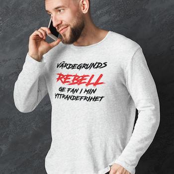 Värdegrunds Rebell Long Sleeve T-Shirt