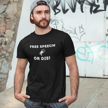 Free Speech Or Die! T-Shirt Herr