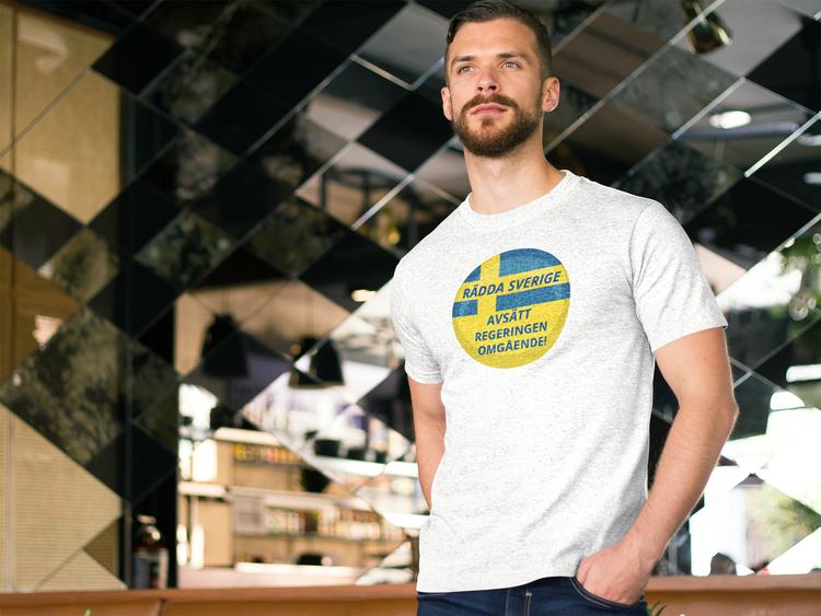 Nyval Nu!! Vill vill inte ha den nuvarande Svenska Regeringen T-Shirt. Herr Tshirt i flertalet färger och storlekar