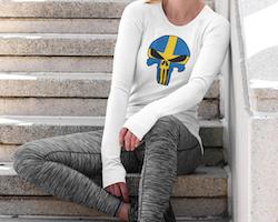 Swedish Skull Long Sleeve Dam