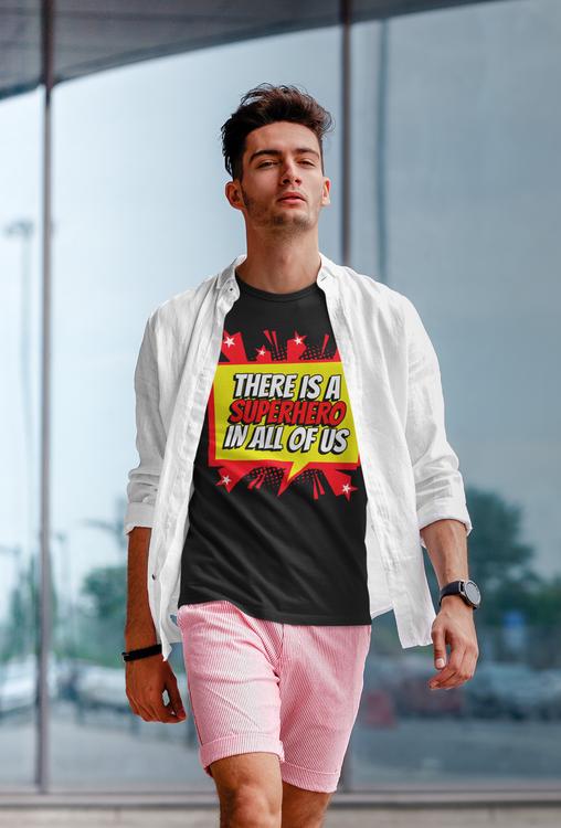 Tshirt med tryck Super Hero. Herr Tshirt från Stop The Hate Collection