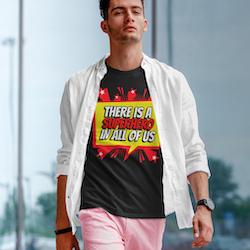 Super Hero T-Shirt Herr