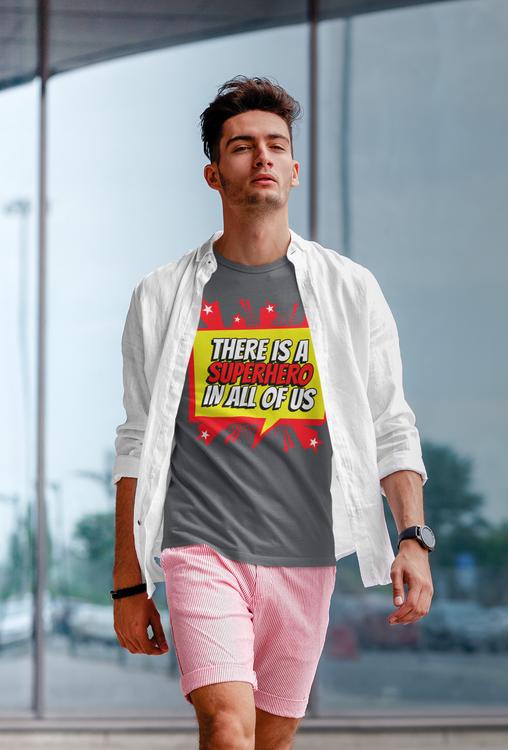 Tshirt med tryck Super Hero