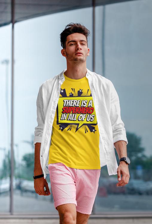 T-Shirt med trycket Super Hero. TShirt från Stop The Hate kollektionen