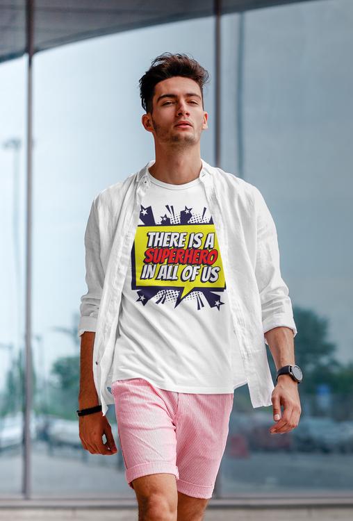 Super Hero T-Shirt. En tröja för alla hjältar därute- T-Shirt Herr