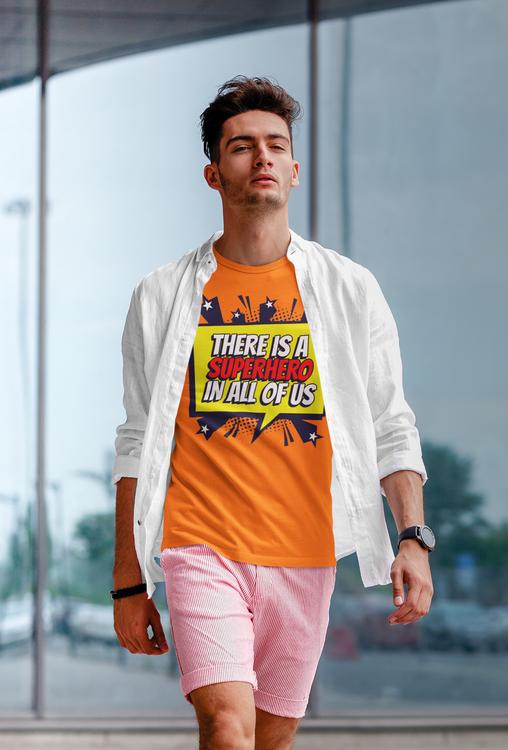 T-Shirt med trycket Super Hero