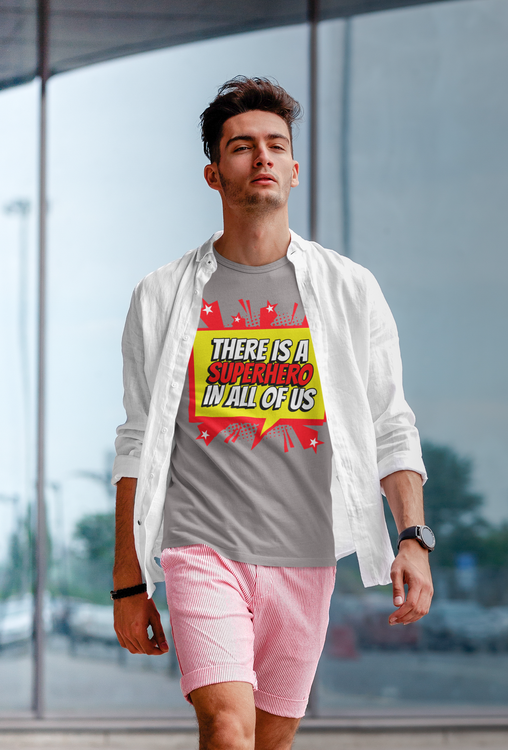T-Shirt Herr. Super Hero. Från Stop The Hate Kollektionen