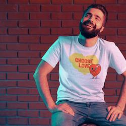 Choose Love T-Shirt Herr