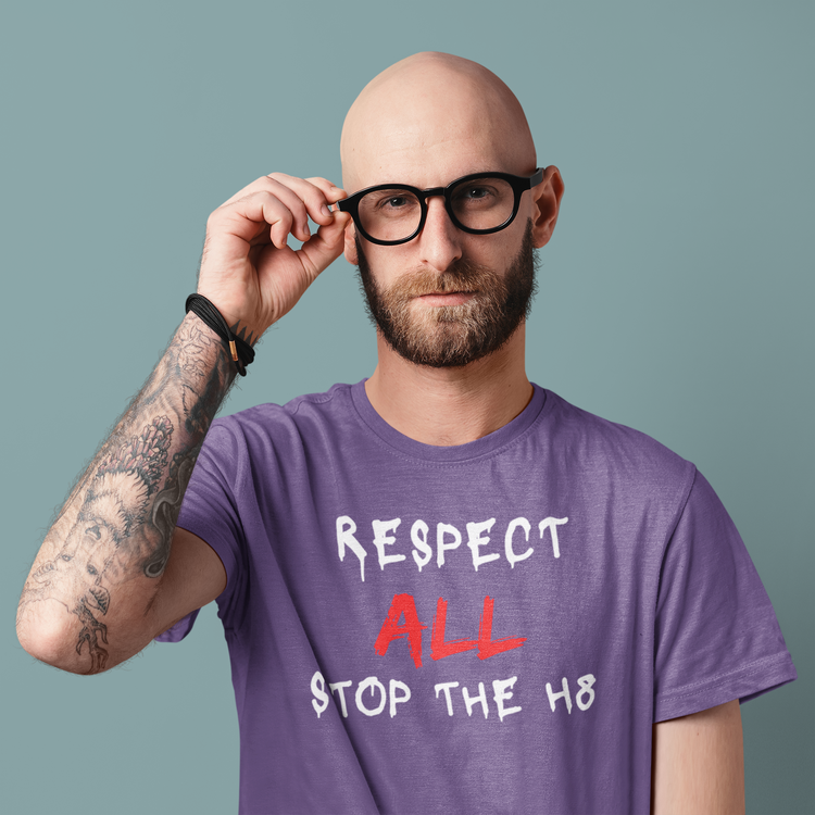 Stop The Hate, Respect All Tshirt från Stop The Hate Kollektionen
