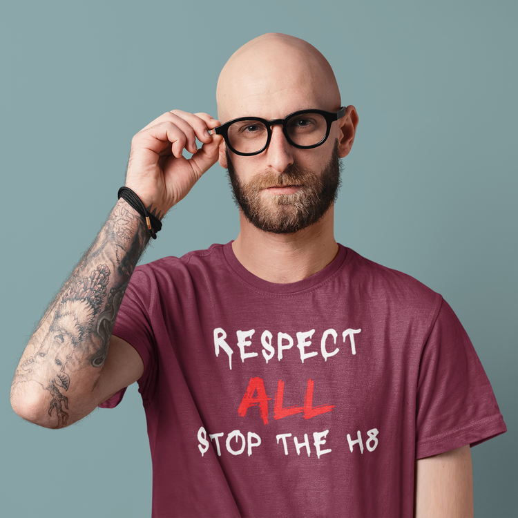 Tröja med Respect All, Stop The Hate motiv/Tryck. Från Stop The Hate Collection