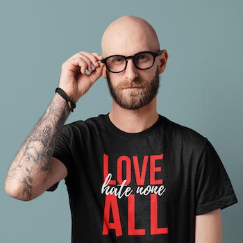 Hate None T-Shirt Herr