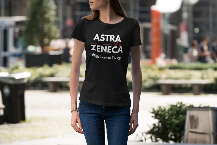AstraZeneca T-Shirt Dam. With License To Kill