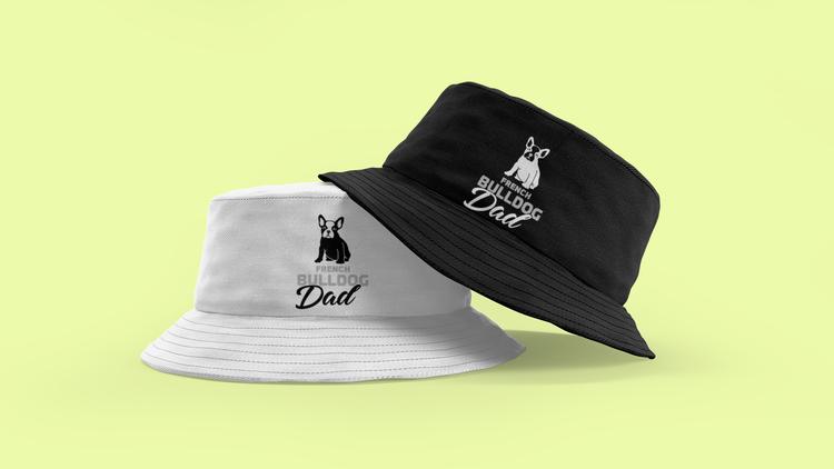 Fransk Bulldog Bucket Hat. Cool & trendig buckethat med texten French Bulldog Dad