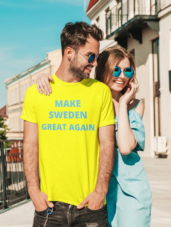 T-Shirt Make Sweden Great Again. Make Your Statement By Statements Clothing. Make Sweden Great Again Cult Status level T-Shirt