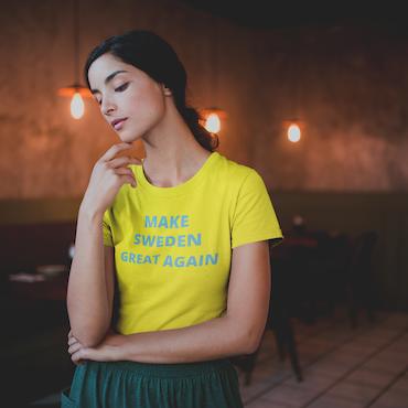Make Sweden Great Again T-Shirt Dam