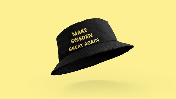 Buckethat med text Make Sweden Great Again. Stort utbud av coola buckethats från Statements Clothing