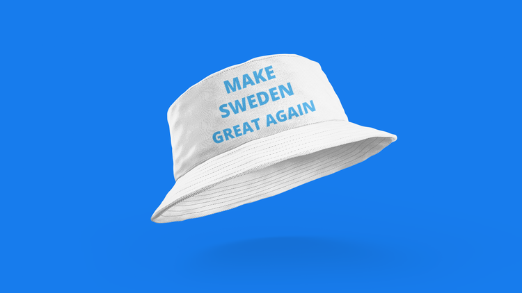 Make Sweden Great Again Buckethat. One Size. Buckethat för de modemedvetna.