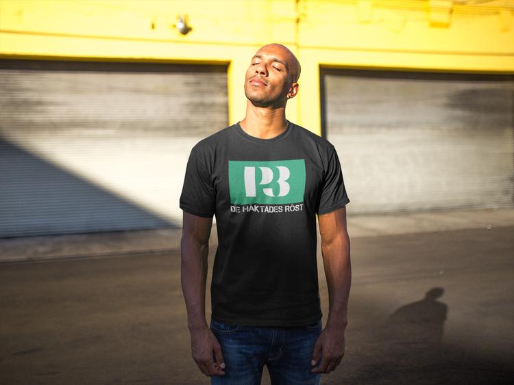 T-Shirt Herr. Text P3 De Häktades Röst. Finns i stort antal färger.