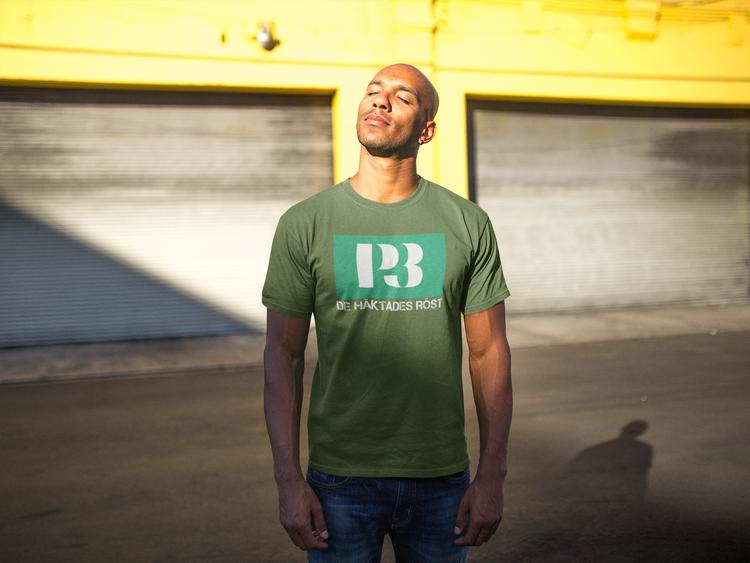 P3 Guldgalan, Årets artist T-Shirt. Tshirt med textmotiv De Häktades Röst
