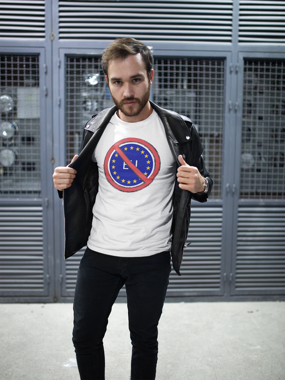 No To EU T-Shirt Herr