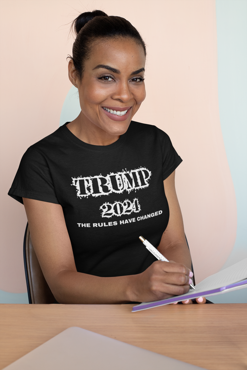 T-Shirt Trump 2024. Trump worldwide supporters. T-Shirt i flera färger